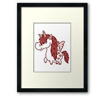 Adorable Unicorn.  Framed Print