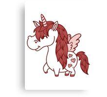 Adorable Unicorn.  Canvas Print