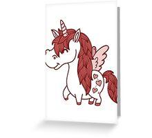 Adorable Unicorn.  Greeting Card