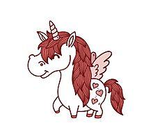 Adorable Unicorn.  Photographic Print