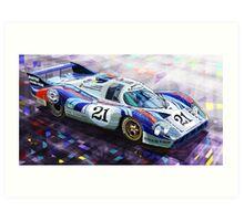 Porsche 917 LH Larrousse Elford 24 Le Mans 1971 Art Print