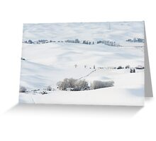 Winter's Rest in the Palouse Greeting Card