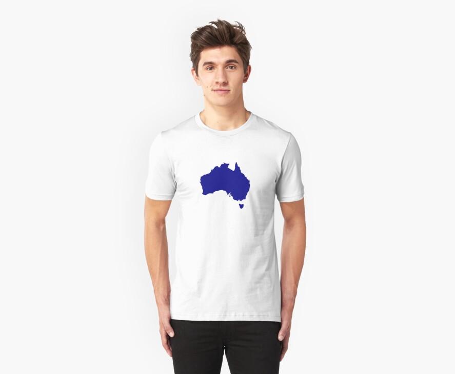Australia map by Designzz