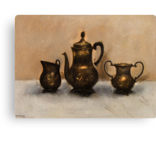 Antiques Oil Painting Canvas Print