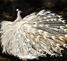 Peacock Oil Painting by Masaad Amoodi