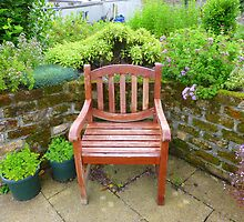 A Seat In The Herb Garden by Fara
