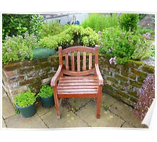 A Seat In The Herb Garden Poster