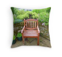 A Seat In The Herb Garden Throw Pillow