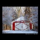 Red Barn In Winter  by © Sophie Smith