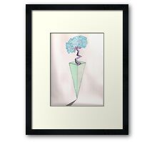 Abstract Vase and Flower Framed Print