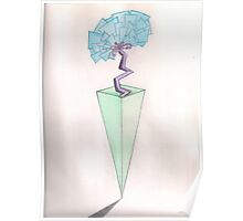 Abstract Vase and Flower Poster