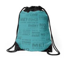 The Force Quotes - Light Blue Drawstring Bag