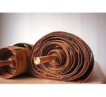 Ancient handwritten Torah scrolls from Yemen  Photographic Print