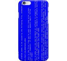 Blue Screen Of Death iPhone Case/Skin