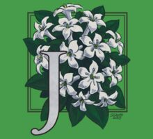 J is for Jasmine - patch One Piece - Short Sleeve
