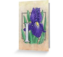 I is for Iris Greeting Card