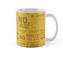 The Force Quotes - Yellow Mug
