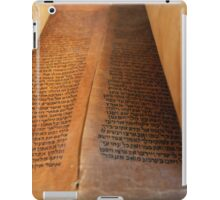 Ancient handwritten Torah scrolls from Yemen  iPad Case/Skin