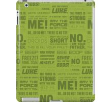 The Force Quotes - Green iPad Case/Skin