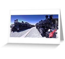 Steam Engines Pano Greeting Card