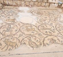 Byzantine mosaic depicting animals and hunting scenes.  by PhotoStock-Isra