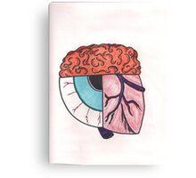 Brain_Eye_Heart Canvas Print