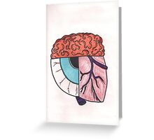 Brain_Eye_Heart Greeting Card