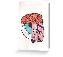 Brain_Eye_Heart Greeting Card