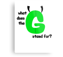 """G,"" man Metal Print"
