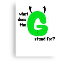 """G,"" man Canvas Print"