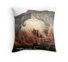 Colored Mountain in Kodachrome State Park Throw Pillow
