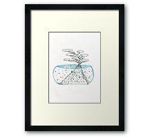 Abstract Ocean Bonsai Framed Print