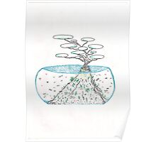 Abstract Ocean Bonsai Poster
