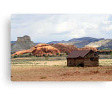Old Cabin in Kodachrome State Park,Utah,USA Canvas Print