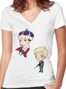 Moriarty and Moran chibis Women's Fitted V-Neck T-Shirt