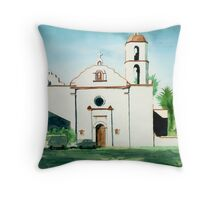 Mission San Luis Rey Colorful Throw Pillow