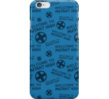 Welcome to Mutant High - Blue iPhone Case/Skin