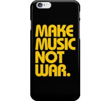 Make Music Not War (Mustard) iPhone Case/Skin