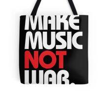 Make Music Not War (black/red) Tote Bag