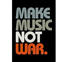 Make Music Not War (Retro) Photographic Print