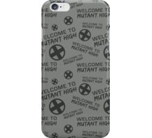 Welcome to Mutant High - Grey iPhone Case/Skin