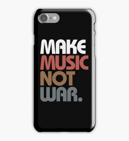 Make Music Not War (Antique) iPhone Case/Skin