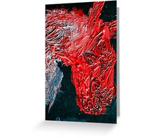 Oil on canvas Horse in red Greeting Card
