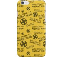 Welcome to Mutant High - Yellow iPhone Case/Skin