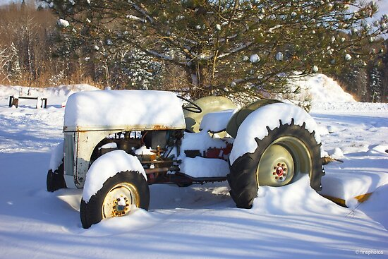 Snow Covered Tractor by finsphotos