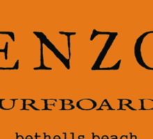 ENZO surfboards - bethells beach Sticker