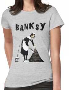 Banksy: Sweeping Under The Rug Womens Fitted T-Shirt