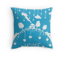There's no place like home - sky blue Throw Pillow