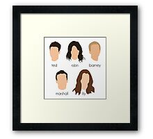 How I Met Your Mother Minimalist Print Framed Print