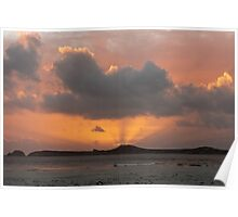 Mutton Bird Island Sunset, Southwest Tasmania Poster